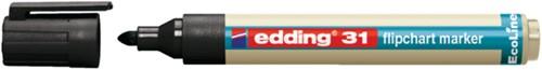 Viltstift edding 31 Eco voor flipover rond 1.5-3mm zwart