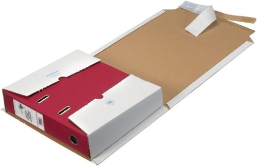 Verzenddoos ordnerpac Loeff 320x290x35/80mm wit 25stuks