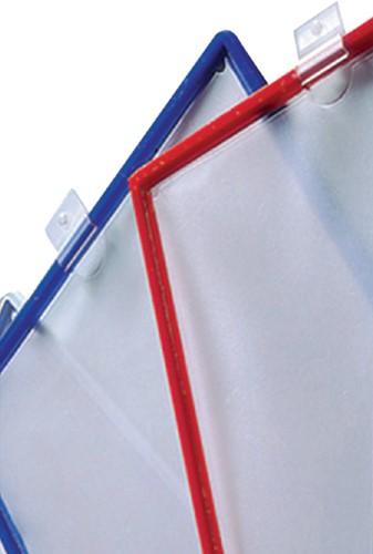 Infotas Flex-O-Frame met Ophangring A4 rood