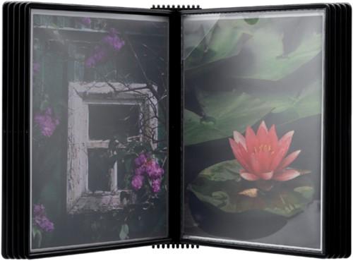Wandelement Flex-O-Frame met 10-tassen zwart