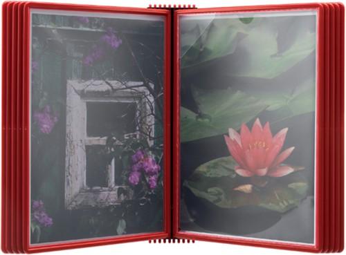 Wandelement Flex-O-Frame met 10-tassen rood