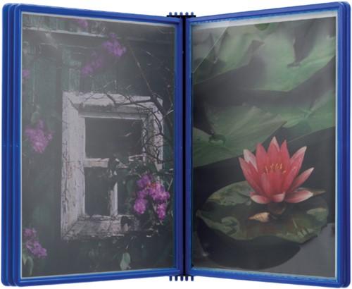 Wandelement Flex-O-Frame met 5 tassen blauw