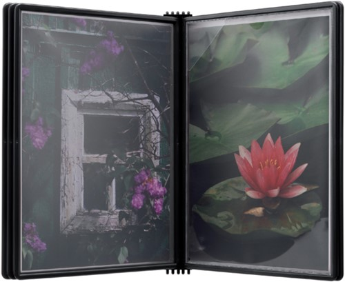 Wandelement Flex-O-Frame met 5 tassen zwart