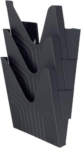 Folderhouder Avery nr144 wand folio hoog 3vaks zwart