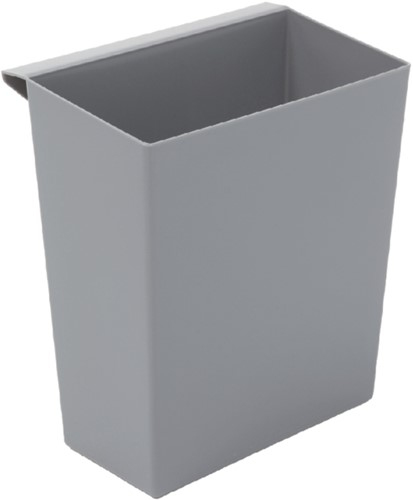 Inzetbak voor vierkante tapse papierbak grijs