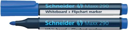 Viltstift Schneider 290 whiteboard rond blauw 2-3mm