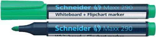 Viltstift Schneider 290 whiteboard rond groen 2-3mm