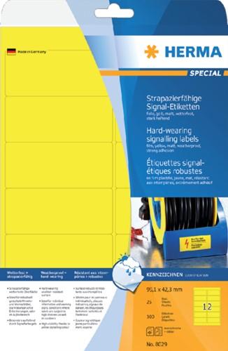 Etiket Herma 8029 99.1x42.3mm folie 300stuks geel