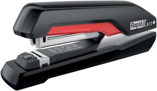 Nietmachine Rapid S17 Fullstrip 30vel 24/6 zwart/rood