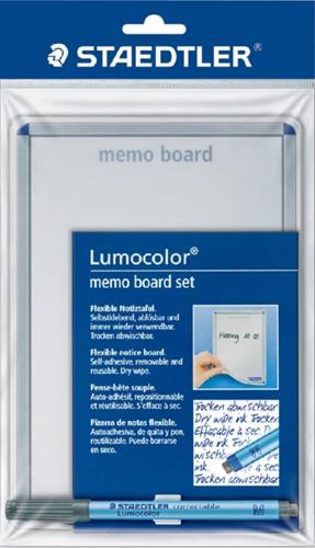 Whiteboard Staedtler Lumocolor memo A5 met pen 305