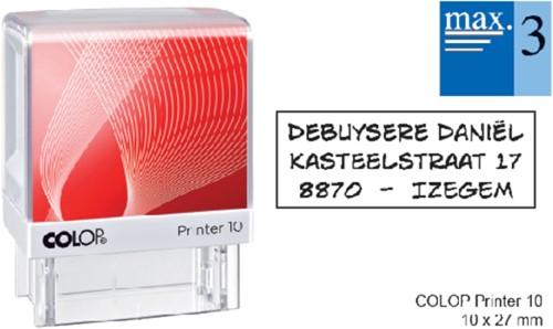 Tekststempel Colop Printer 10 +bon 3regels 27x10mm