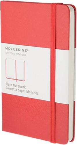 Notitieboek Moleskine large 130x210mm blanco rood