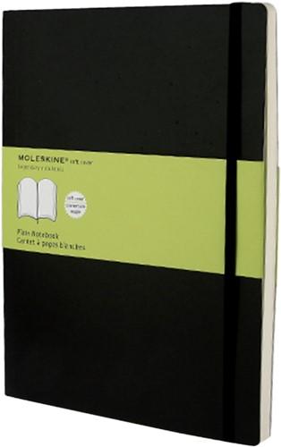 Notitieboek Moleskine XL 190x250mm blanco zwart