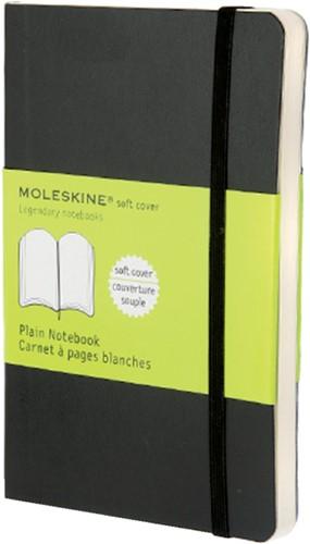 Notitieboek Moleskine pocket 90x140mm blanco zwart