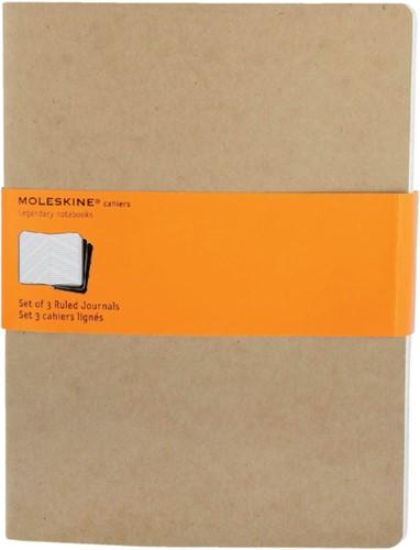Schrift Moleskine XL 190x250mm lijn 240blz kraft