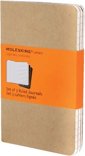 Schrift Moleskine 90x140mm lijn 128blz pocket kraft