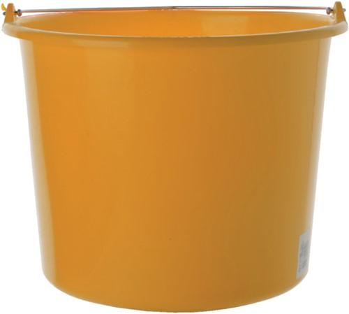 Emmer kunststof 12l geel