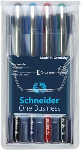 Rollerpen Schneider One Business set à 4 stuks 0.6mm assorti