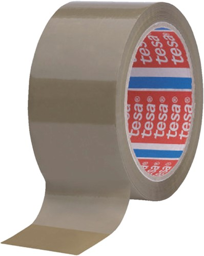 Verpakkingstape Tesa 4089 50mmx66m bruin PP
