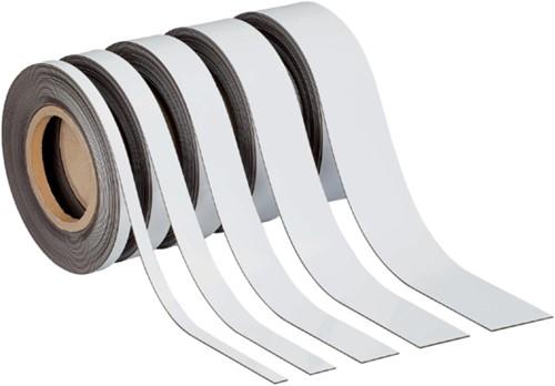 Magnetisch beschrijf- en wisbaar MAUL 10mx30mmx1mm wisbaar wit