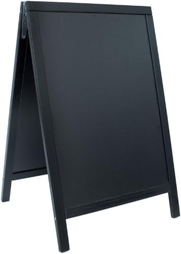 Stoepbord Securit 55x85x3cm zwart hout