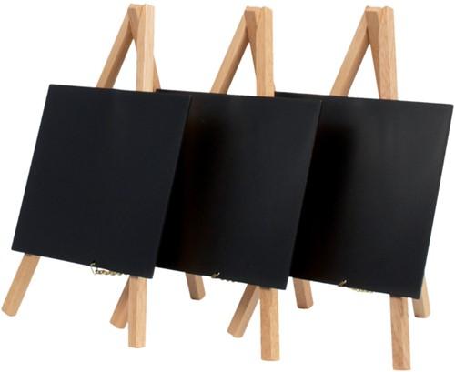 Krijtbord Securit mini 3-poot 26x15.5x1.3cm blank hout