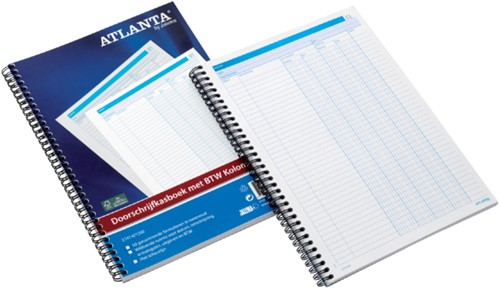 Doorschrijfkasboek Atlanta A4 50x2vel met BTW