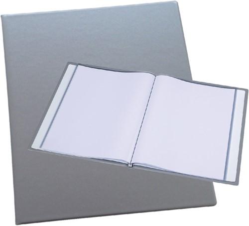 Showmap Rillstab A4 Trendline 20-tassen zilver