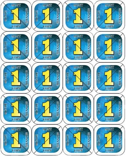 Consumptie breekmunten Combicraft 200st blauw