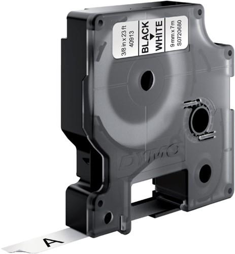 Labeltape Dymo 41913 D1 720680 9mmx7m zwart op wit