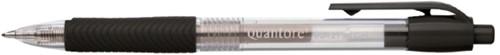 Gelschrijver Quantore gripdrukknop 0.7mm zwart