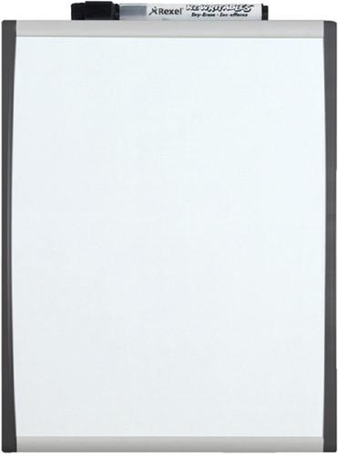 Whiteboard Rexel 35.5x28cm gewelfd