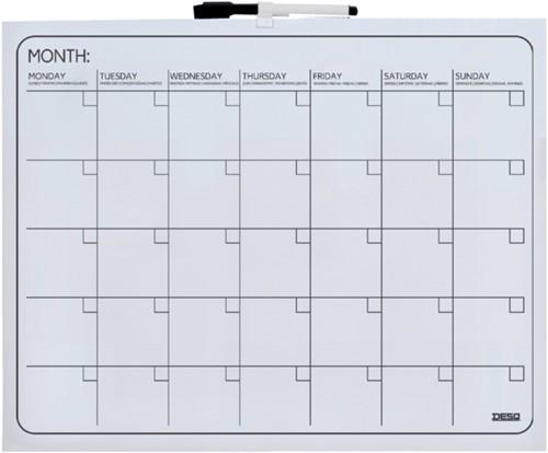 Planbord Desq maand 40x50cm magnetisch