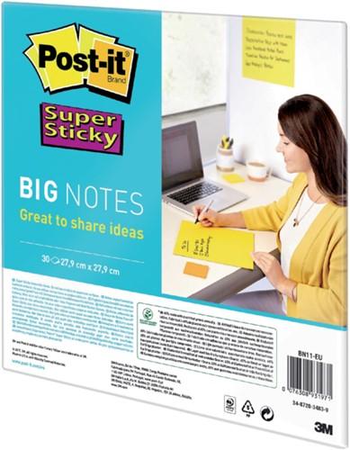 Scrum Big Notes 3M Post-it 27.9x27.9cm geel