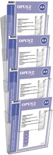 Folderhouder OPUS 2 A4 wand staand koppelbaar transparant