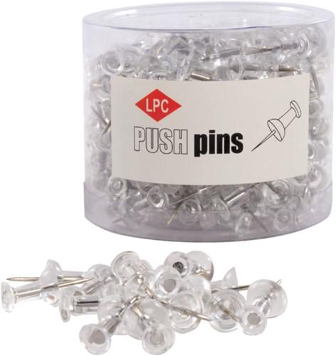 Push pins LPC 200stuks transparant