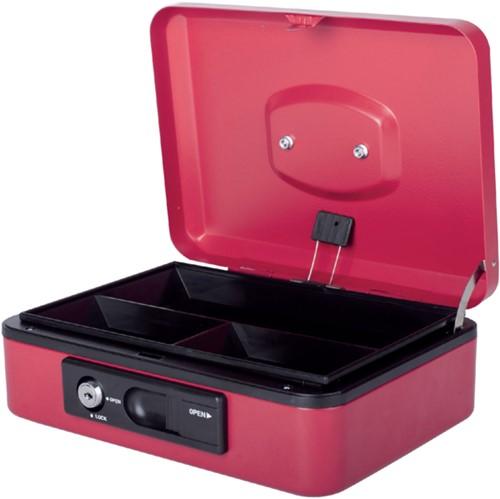 Geldkist Pavo Deluxe 250x180x90mm rood
