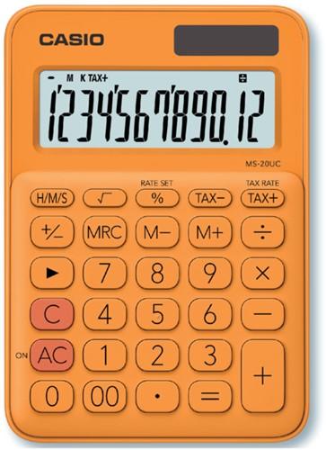 Rekenmachine Casio MS-20UC oranje