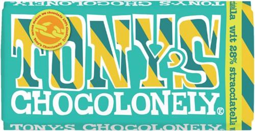 Chocolade Tony's Chocolonely reep 180gr wit straciatella