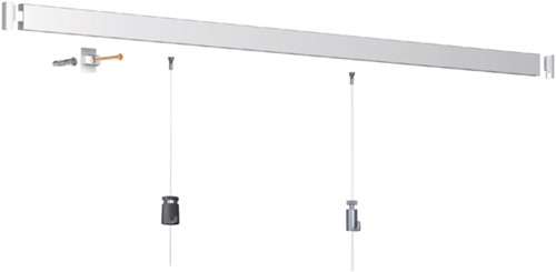 Wandophangsysteem OPUS 2 Click Rail wit All-In-One