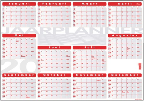 Jaarplankalender 2021 Quantore 48x68cm