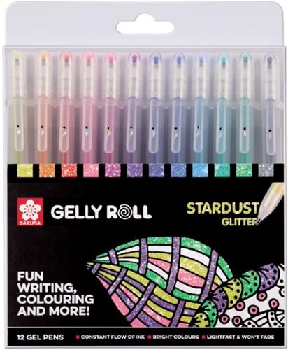 Gelschrijver Sakura Gelly Roll Stardust glitter assorti
