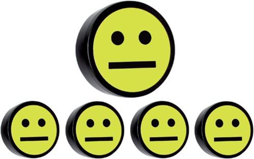 Magneet smiley 35mm geel