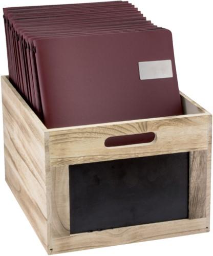 Krijtbord securit krat hout bruin