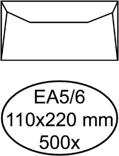 Envelop Quantore bank EA5/6 110x220mm wit 500 stuks