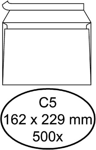 Envelop Quantore bank C5 162x229mm zelfklevend wit 500stuks