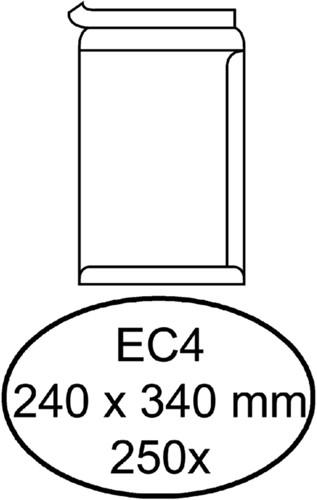 Envelop Hermes akte EC4 240x340mm zelfklevend wit 250stuks