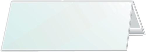 Tafelnaambord Durable 8053 105x297mm transparant