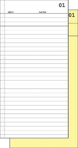 Commissieboekje Expres SI-30020 210x105mm 50x2vel