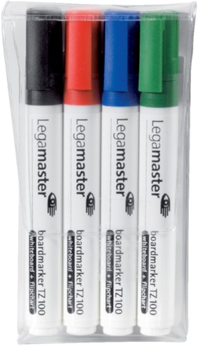 Viltstift Legamaster TZ100 whiteboard rond ass 1.5-3mm 4st